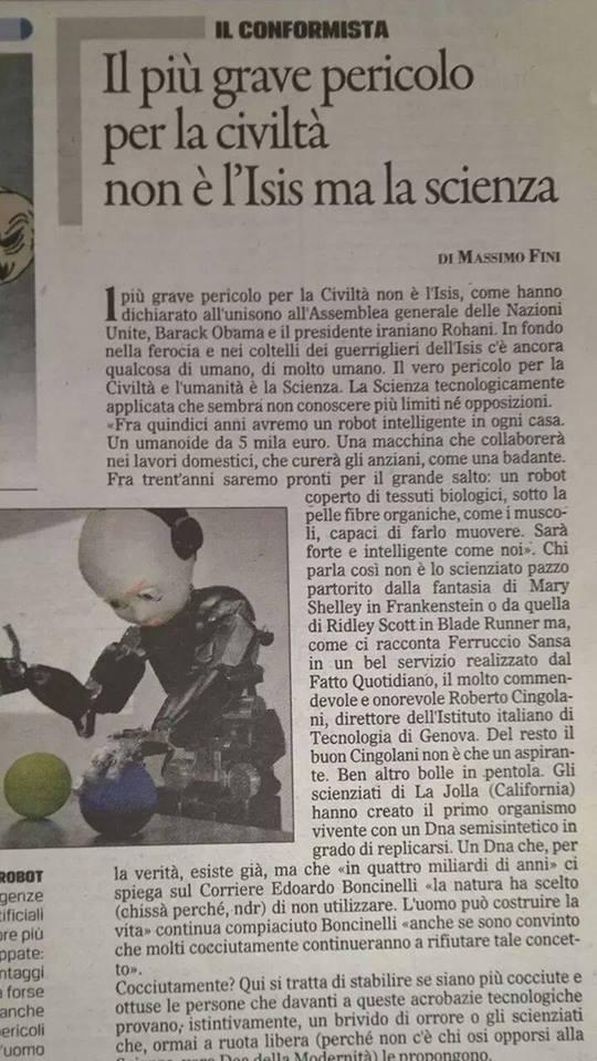 Articolo di tale M.Fini